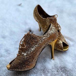 Bordello | Sexy Gold Sequin Stilettos